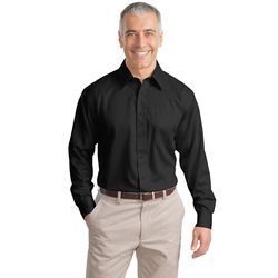 Men's Solid Long Sleeve Non-Iron Twill Shirt (Better)