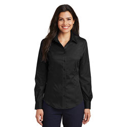 Ladies' Solid Long Sleeve Non-Iron Twill Shirt (Better)