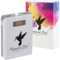 Universal Power Bank - 8800 mAh - DUAL OUTPUT with Digital Display, Custom Packaging