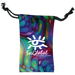 Budget Microfiber Pouch/Cleaning Cloth with a Full-Color Imprint - Mini Size