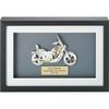 Motorcycle Business Card Sculpture in Shadow Box
