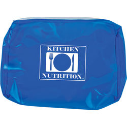 "8"" x 5.5"" Translucent PVC Zippered Pouch"