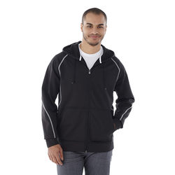 Quick Ship MEN'S Full Zip Hoodie with Contrast Stitching