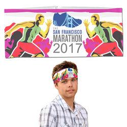 Unisex Moisture-Wicking Sport Head Wrap - Full Color Printing