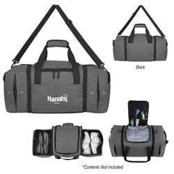 """22"""" Deluxe Snow Canvas Duffel with 2 Shoe Compartments and Air Vents"""