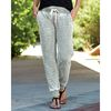 Ladies' Acid Wash Burnout Fleece Jogger Pants