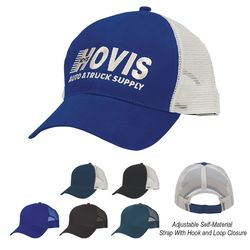 6-Panel Cotton Medium Profile Mesh Back Cap with Velcro® Closure