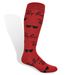 Knee High Dress Sock with All-Over Knit-In Logo (Longer Ship)