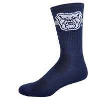 High Performance Moisture Wicking Crew Sock with Knit-In Logo - Made in USA