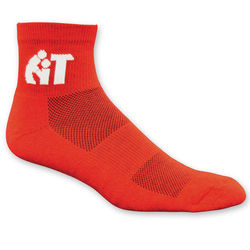 High Performance Moisture Wicking Ankle Sock with Knit-In Logo (Longer Ship)