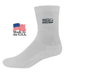 Athletic Crew Socks with Full Color Printed Applique (Fastest Ship)