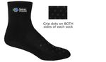 Hospital/Patient Ankle Socks with Grip Dots and Full Color Printed Applique (Fastest Ship)