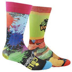 Thinner Crew Socks with All Over Full-Color Printing (Longer Ship, Higher Mins)