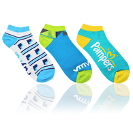Pantone Color Matched Ankle Socks with Knit-In Logo (Longer Ship, Higher Mins)