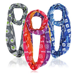 Infinity Scarf With Full-Color Printing (Longer Ship)