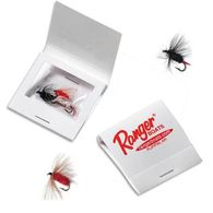 3 Fishing Flies in Matchbook