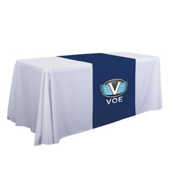 "Standard 28"" Wide Table RUNNER with Full-Color Imprint on Front"