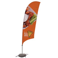 10.5' Razor Sail Sign with Full Color Printing and Cross Base (Single-Sided)