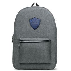 "Classic Snow Canvas Backpack with Faux-Leather Logo Patch - Holds 15"" Laptops"