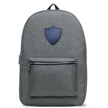 """Classic Snow Canvas Backpack with Faux-Leather Logo Patch - Holds 15"""" Laptops (NFC Capable)"""