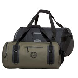"24"" Water Resistant Duffel Bag with Faux-Leather Logo Patch"