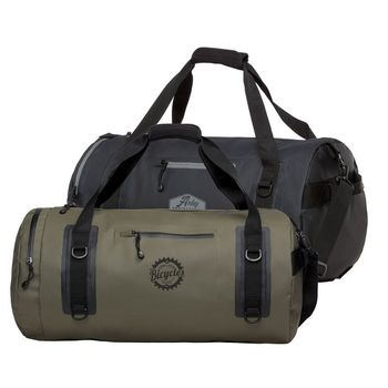 """24"""" Water Resistant Duffel Bag with Faux-Leather Logo Patch"""