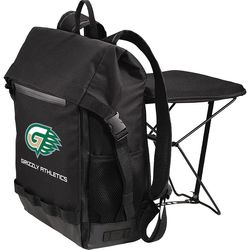 Backpack with Integrated Fold-Out Seat