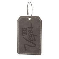 Full Grain Leather Luggage Tag