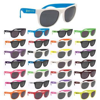 Plastic Rubberized Sunglasses - BUDGET