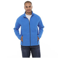 Quick Ship MEN'S Full-Zip Microfleece with Retail Inspired Contrast Stitching and Thumb Grabs