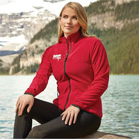 Quick Ship LADIES' Full-Zip Microfleece with Retail Inspired Contrast Stitching and Thumb Grabs