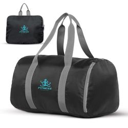 "18"" Packable Polyester Duffel Bag Folds Into Pouch"