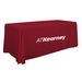 Economy 6' Table THROW with Full-Color Imprint on Front - Open Back Side
