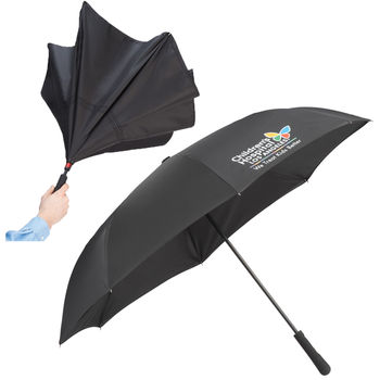 """Inversion Umbrella Opens and Closes Inside-Out! - 46"""" Arc Manual-Open (30"""" Folded)"""