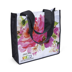 "12"" x 12"" Polyester Tote with Full-Color Printing on Both Sides (Folds into Pouch!)"
