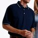 Harriton Men's Jersey Polo with Tipping