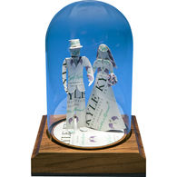 Bride and Groom Business Card Sculpture in a Bottle Award