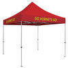 10' Deluxe Steel Frame Square Event Tent with Full Color Printing on All 4 Valances OR Peaks and a 2-Year Warranty
