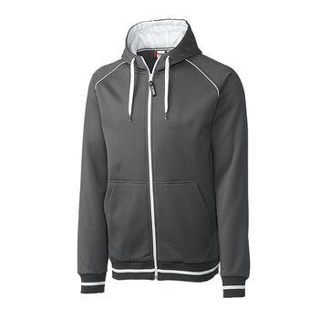 Men's Clique® Contrast Fleece Zip Hoodie