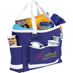 """12.5"""" x 17"""" Carry-All PolyCanvas Tote Perfect for Game Day"""