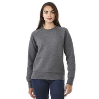 Quick Ship LADIES' Ultra Soft Crewneck Sweatshirt with Thumbholes