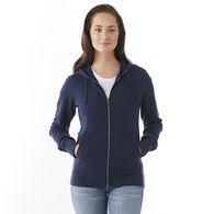 Quick Ship LADIES' Ultra Soft Fleece Full Zip Hoodie Sweatshirt with Thumbholes - GOOD