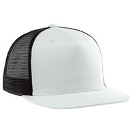 5-Panel Quick Ship Trucker Hat with Structured Crown, Plastic Snap Tab Closure