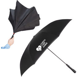"Inversion Umbrella Opens and Closes Inside-Out! - 48"" Auto-Close (29.5"" Folded)"