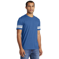 Mens Tee with Athletic Striping on Sleeves