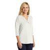 Ladies Concept 3/4-Sleeve Soft Split Neck Top
