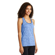 Ladies Electric Heather Racerback Tank