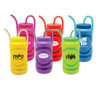 12 oz Krazy Straw Sports Bottle