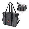 Executive Zippered 24 Can Cooler with Shoulder Strap and Thick Insulation