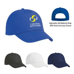 Budget Solid 5-Panel Non-Woven Cap